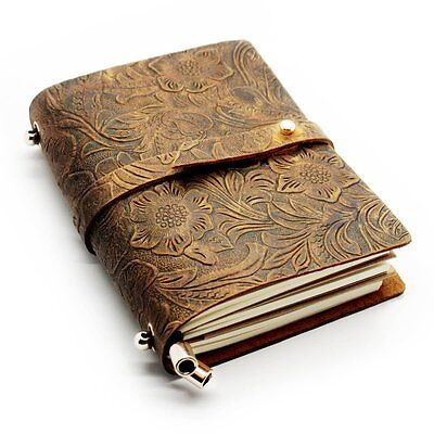 CONE Classics Embossed Retro Travel Leather Cover Diary Notebook 5.5x4.3x1.2 inc
