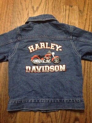 Harley Davidson Blue Jean Jacket Size 4/5 Youth. Boys Or Girls. Unisex