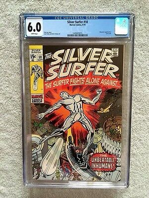 The Silver Surfer #18 CGC 6.0 WHITE pages Marvel Sept 1970 Inhuman appearance