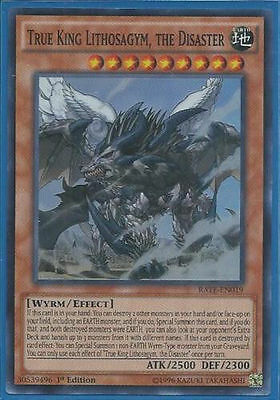 *** True King Lithosagym, The Disaster *** Rate-En019  3 Available!  Yugioh!