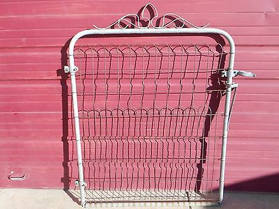Vintage Antique Wire Cottage Style Garden Yard Art Fence Gate-Local Pickup Only!