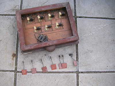 Antique / Vintage Servants / Butlers Bell Box And Fitments - Un Restored / A.f.
