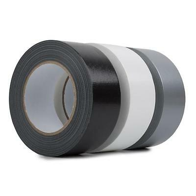 "Black/white/silver Duck Duct Gaffa Gaffer Cloth Waterproof Tape 2"" 48Mm X 45M"