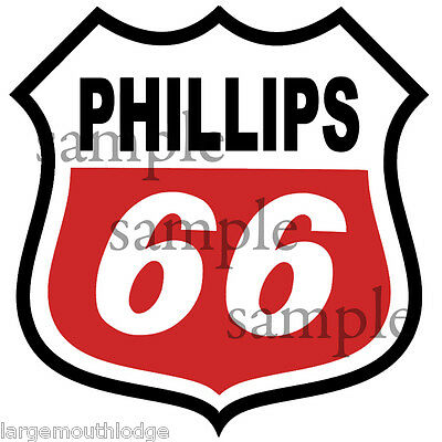 2 Inch Phillips 66 Decal Sticker Red