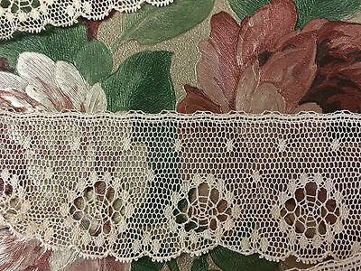 Vintage English Lace Cream 38 mm wide x 2 metres 100% Cotton ~ Stunning