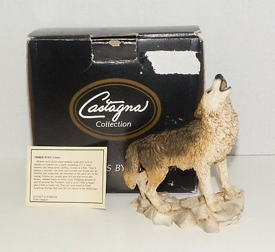 Castagna Timber Wolf Statue Made In Italy Figurine
