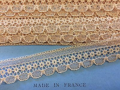 Vintage French Lace Cream  15 mm wide x  4 metres  100% cotton  ~  Stunning