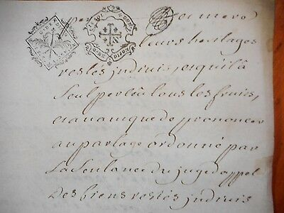 18th century manuscript document from France.