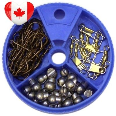 Eagle Claw Hook Swivel and Sinker Assortment, 75-Piece