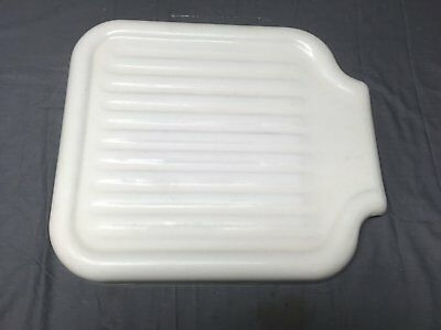 Antique Cast Iron White Porcelain Sink Extension Standard Drainboard Vtg 224-17E