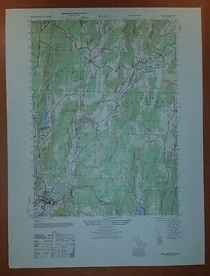 1940's Army topographic map Ware Massachusetts -Sheet 6568 I SW