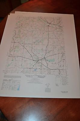 1940's Army topographic map Victor New York -Sheet 5569 IV NW
