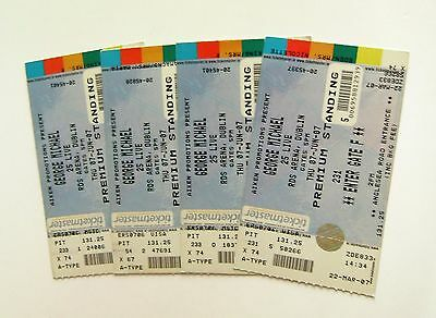 GEORGE MICHAEL MEMORABILIA - Unused Tickets Stub(s) 25 Live Dublin 07/06/07