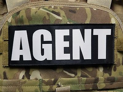 """3x10/"""" LIVESTOCK AGENT Black White Hook Back Patch for Plate Carrier Yellowstone"""