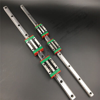 HGR25 Linear Rail Guide L-1000mm & 2pc HGH25CA Rail Block Carriage Replace HIWIN
