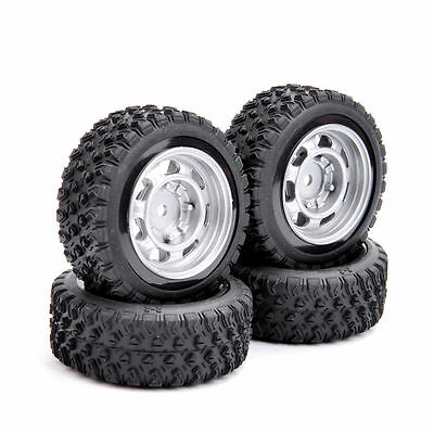 4 PCS 1/10 RC Car 12mm Hex 1:10 Rally Rubber Tires Wheel Rim 11083 For HSP HPI