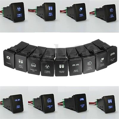 12v LED Driving Spot Light Bar Rocker Push Switch For Toyota Landcruiser RAV4