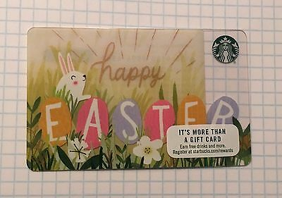 Starbucks Gift Card Happy Easter 2017 Spring New No Value Mint Limited Edition