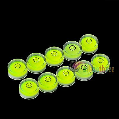 10x Bubble Spirit Level Round Circle Circular Jeweller Tool Green Tripod 25*10mm