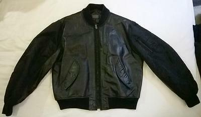 Retro DKNY Black Bomber Jacket - vintage