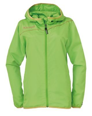 Kempa Womens Ladies Presentation Sports Full Zip Hooded Jacket Top Green Gold
