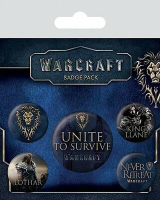 WARCRAFT - The Alliance - Button Set - Badge Pack - Neu OVP