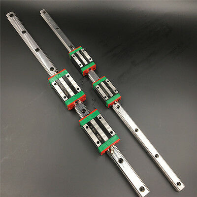 HGR20 Linear Rail Guide L2500mm&2pc HGH20CA Rail Block Replace for HIWIN CNC