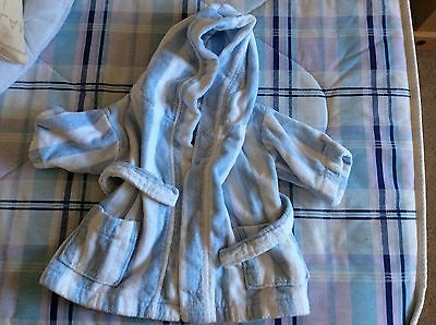 The little white company bathrobe dressing gown  baby boy 12-18 months vgc