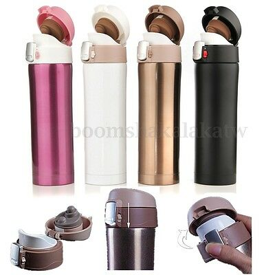 500ml Travel Vacuum Thermos Stainless Steel Bottle Flask Mug Coffee Water Cup