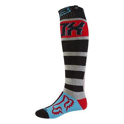 Fox 2017 Herren Motocross / MTB Socken - FRI FALCON THICK - grau-rot Motocross E