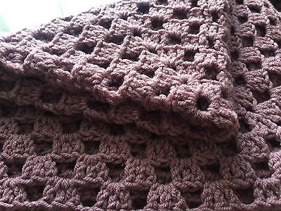 "Large Hand - Made Heather Crochet Baby Swaddling Shawl Nice Gift 54"" X 48"" New��"