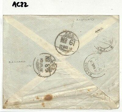 AC22 1918 INDIAN FORCES IRAQ WW1 Mesopotamia Baghdad Two FPOs {samwells-covers}