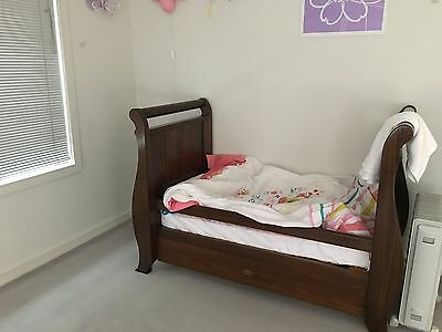 Boori Sleigh Cot - 3 in 1 Cot/Toddler bed & Mattress