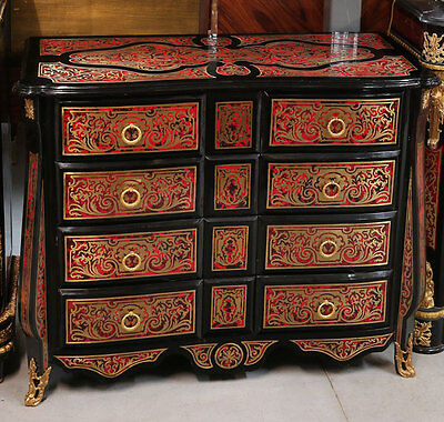 Commode Boulle De Style Napoleon Iii Marqueterie Second Empire