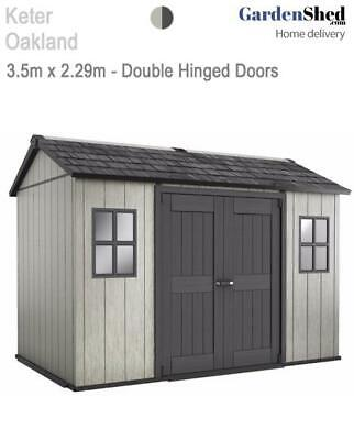 Keter Oakland 1175 3.5m x 2.29m – FREE Sherwood Box - FREE HOME DELIVERY