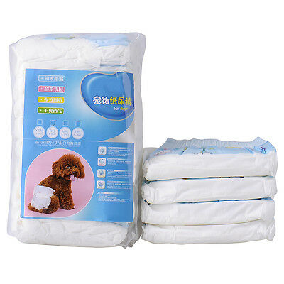 10 PCS Disposable Pet Dog Puppy Diaper Outdoor Nappies Underwear Sanitary Pants