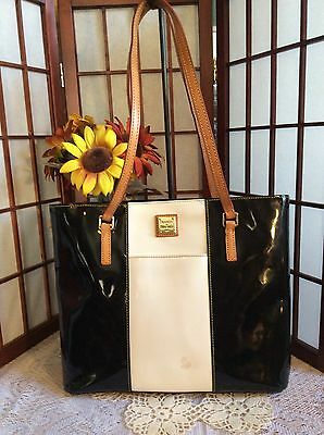 DOONEY & BOURKE Large Tote Black & White Patent Leather