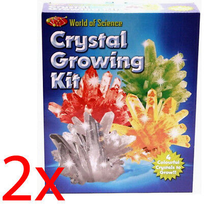2 X Weird Science Make Your Own Growing Kit Crystals Science Experiment Set Toy