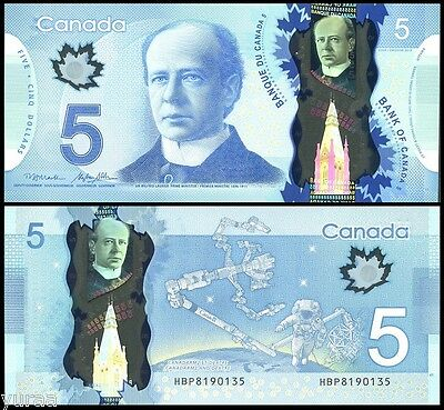 Canada - 5 Dollars 2013 UNC, Pick 106b, sign. Macklem and Poloz (2014)