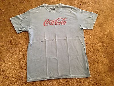 Coke Vintage Style Distressed T Shirt Large Retro Coca Cola