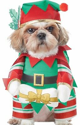 Elf Pup Dog Costume Dogs Pet Cat Funny Comical Christmas Santa Santa's Helper