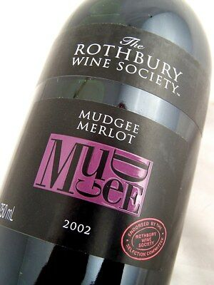 2002 ROTHBURY ESTATE Wine Society Mudgee Merlot Isle of Wine