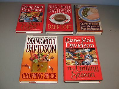 Lot Of 5 Cozy Mystery books\* HC / by Diane Mott Davidson