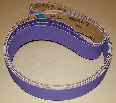 "2"" x 72"" New Premium Purple Ceramic Sanding Belt Pack - P36, 60, 120 - 3 belts"