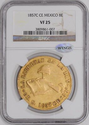 1857C CE Mexico 8E VF25 KM383.2 NGC ~ WINGS