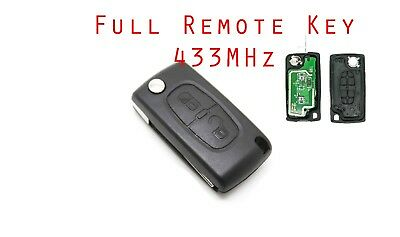 Fits to Citroen C2 C3 remote Key Fob 2 Button 433 Mhz ID46 chip