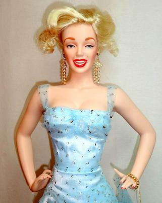Franklin Mint Marilyn Monroe There's No Business Like Show Porcelain Doll Box