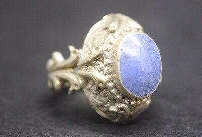 Antique Silver Ring With Stone Insert