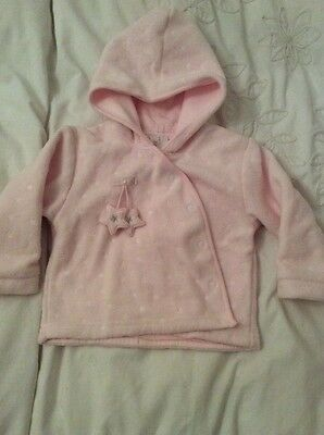 Girls zip zap pink fleece jacket coat 6-12 months