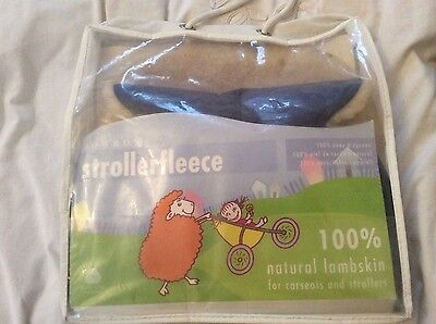 Bowron Strollerfleece 100% natural lambskin for carseat and stroller